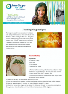 Weekly Healthy Newsletter - November 23, 2015