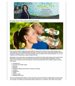Health Coach, Tina Kucera, Weight Loss, Newsletter