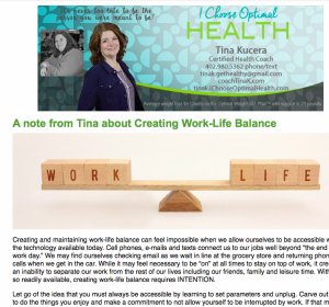 Tina Kucera, newsletter, health coach, weight loss