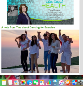 Tina K, newsletter, health coach , weight loss